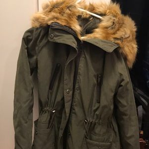 Forever 21 Jacket with Faux Fur Hood